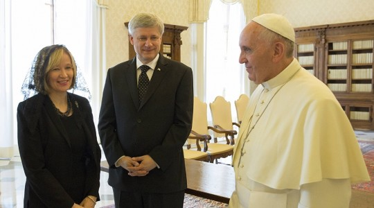 Prime Minister Stephen Harper Meets with His Holiness Pope Francis